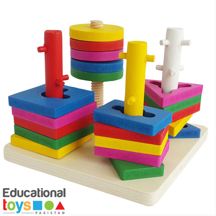 4 Column Shape Sorting Puzzle (Geometric)