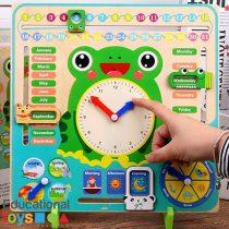 Wooden Multifunctional Calendar Clock