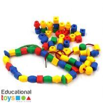 Geometric Lacing Beads - Small