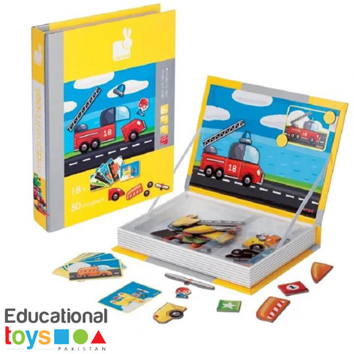 Magnetic Puzzle Book – Vehicles