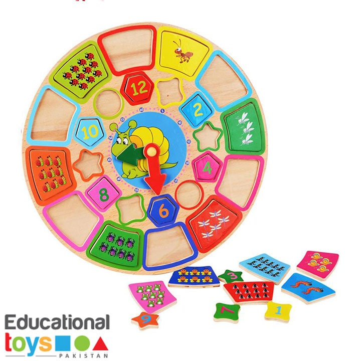 Wooden Multifunctional Learning Clock Puzzle