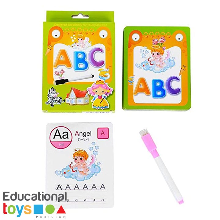 ABC Learning Write and Wipe Flash Cards with Pen and Eraser