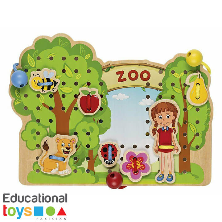 Zoo Lacing Treading Game (Wooden)
