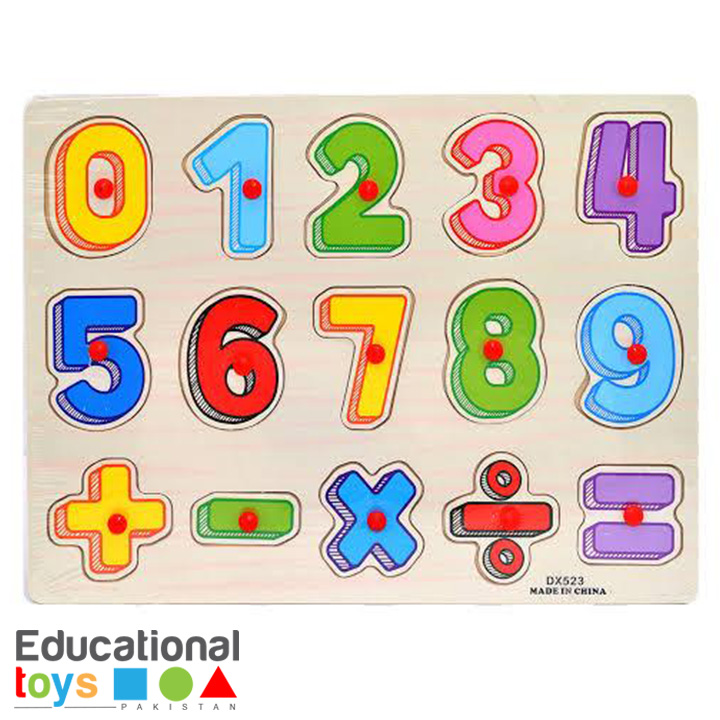 Number Wooden Peg Puzzle