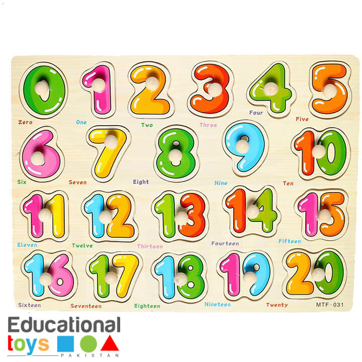 1-20 Number Wooden Peg Puzzle