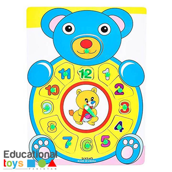 Bear Clock Wooden Puzzle