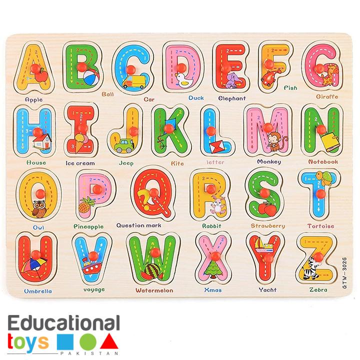 Capital ABC Wooden Peg Puzzle