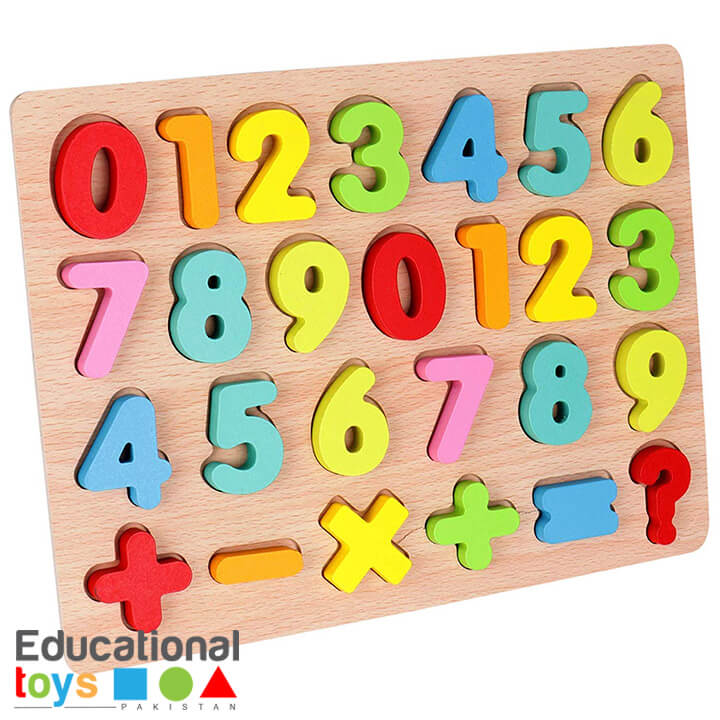 Chunky Number Wooden Puzzle