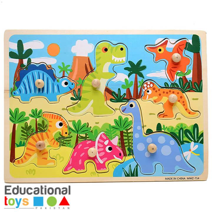 Dinosaurs Wooden Peg Puzzle