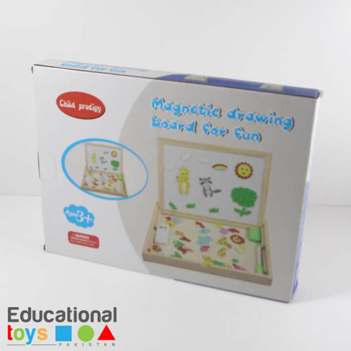 double-sided-magnetic-drawing-board-with-animal-magnets-1