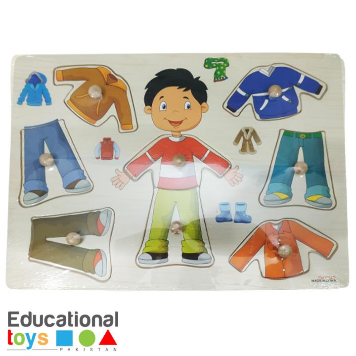 Dress Up – Boy – Wooden Peg Puzzle