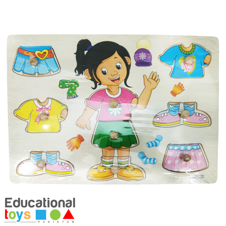Dress Up – Girl- Wooden Peg Puzzle
