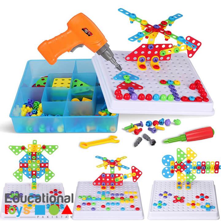 223 Piece Drill & Screw Driver Mosaic Creative Puzzle Set
