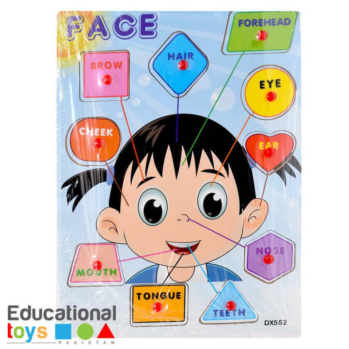 Face Wooden Peg Puzzle