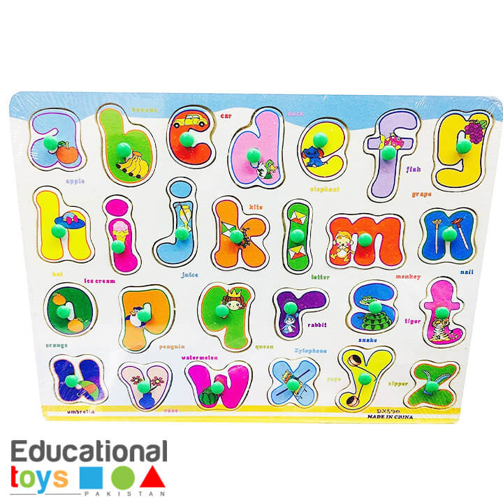 Small Letter abc Wooden Peg Puzzle