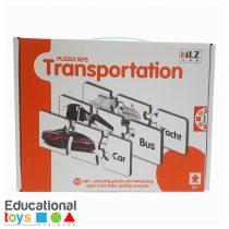 Transportation Match-it Puzzle