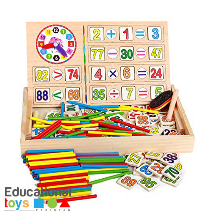 Wooden Math Operation and Drawing Box