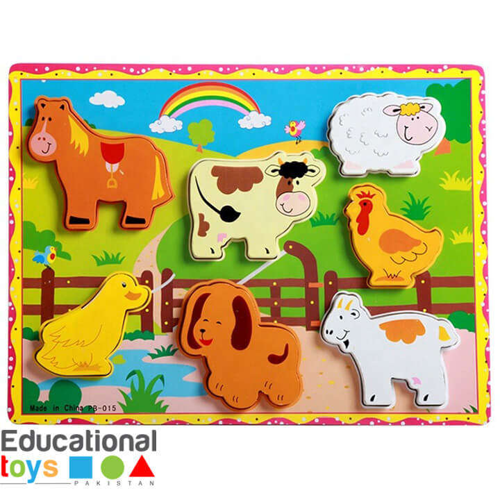 Chunky 3D Domestic Animal Wooden Puzzle