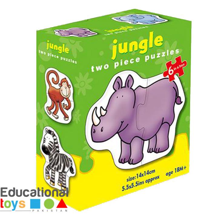 Jungle, Toddler's Jigsaw Puzzles – 6 x 2 Piece