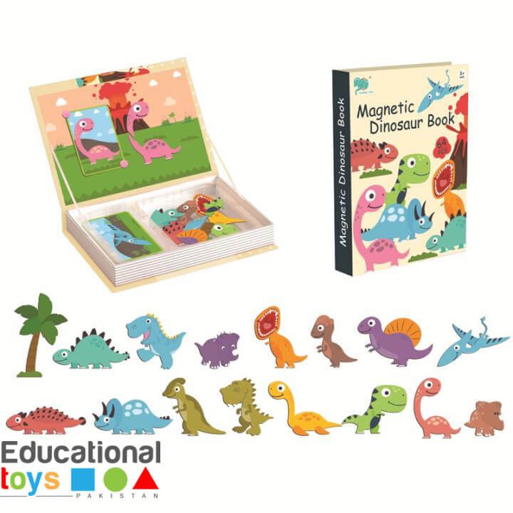 Dinosaur Magnetic Puzzle Book