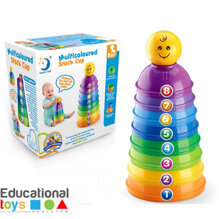 Multicolored Rolling Stacking Cups