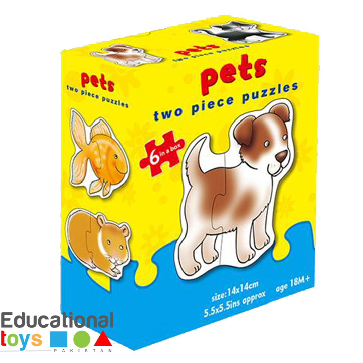 Pets, Toddler's Jigsaw Puzzles – 6 x 2 Piece