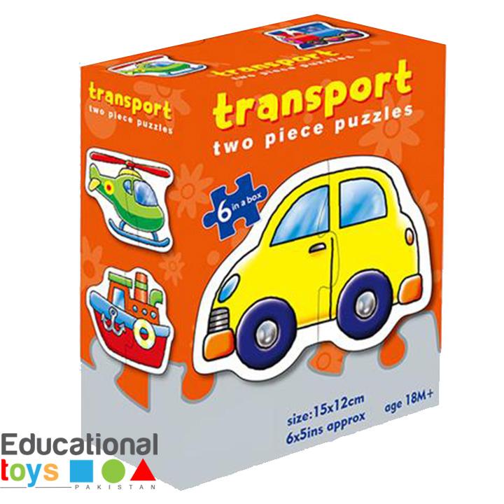Transport, Toddler's Jigsaw Puzzles – 6 x 2 Piece