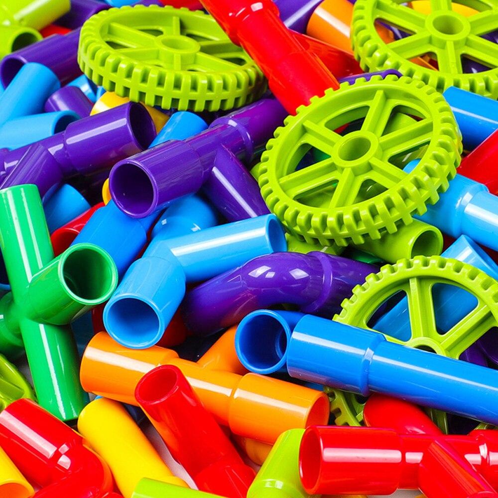 Water Pipe Plug Match DIY Building Blocks With Wheels