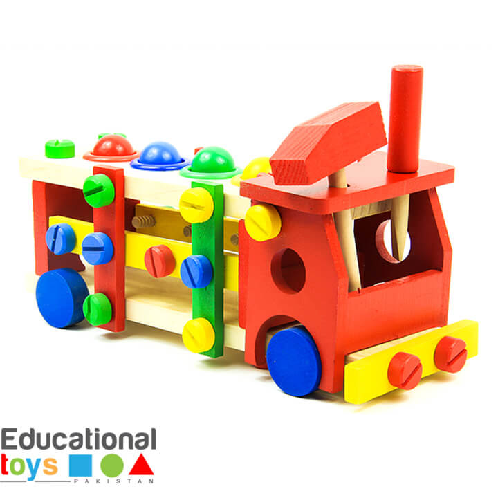 Screw Car Vehicle – Reassembly Building Blocks