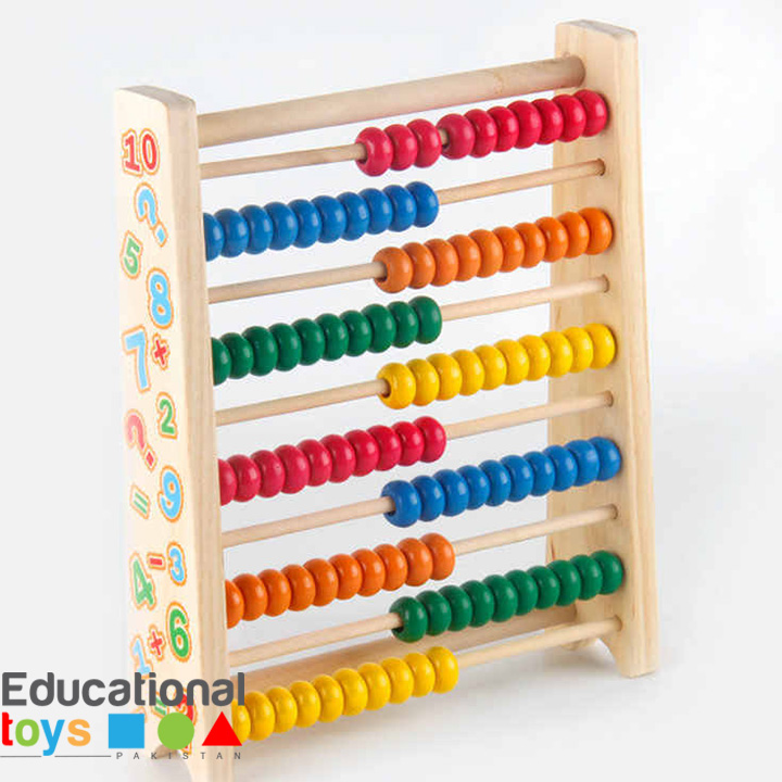 10 Row Wooden Abacus