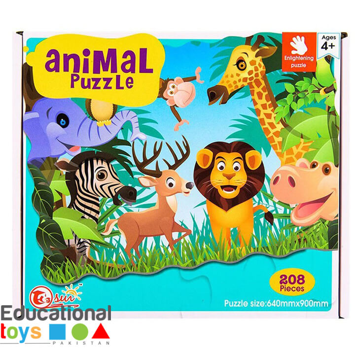 Animal Jigsaw Puzzle – Large (208 Pieces)