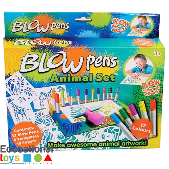 Blow Pens Animal Set – 12 Colors