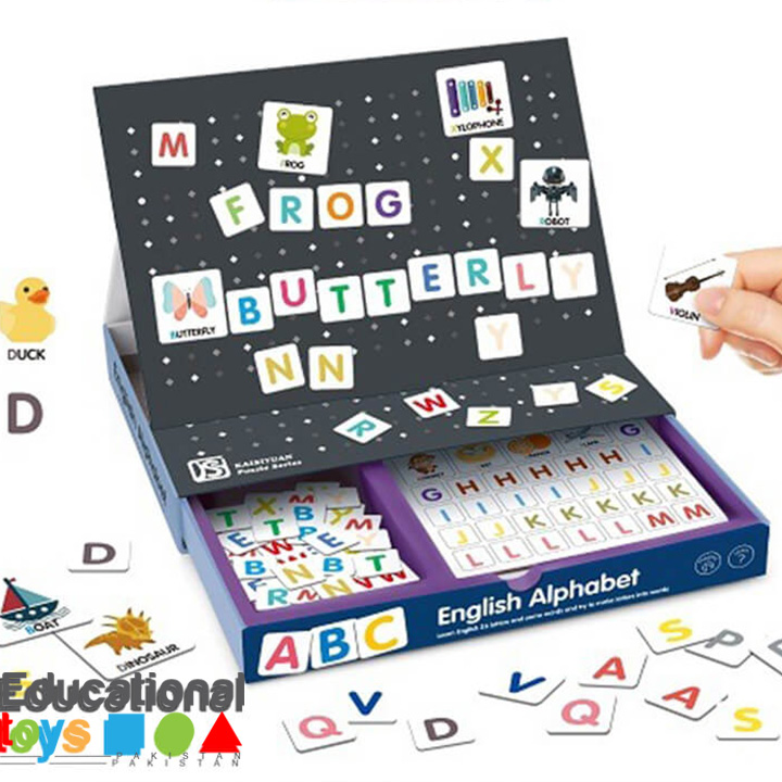 Magnetic Easel English Alphabet and Letter Kit
