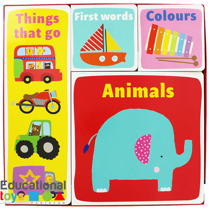 My Early Learning Box (Things That Go, First Words, Colours, Animals) Set of 4 Board Books