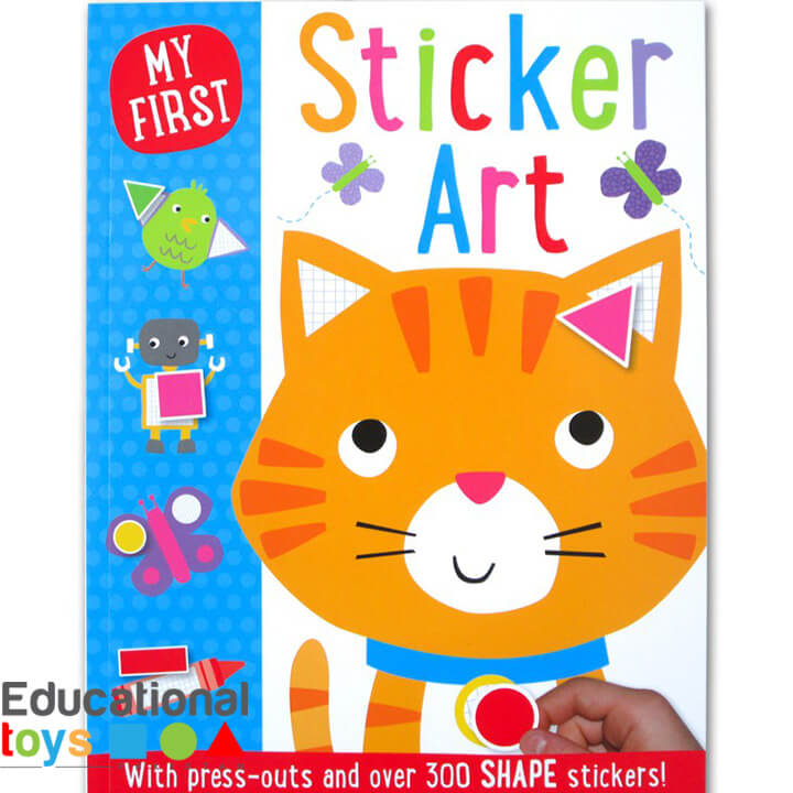 My First Sticker Art Book (with 300 shape stickers)