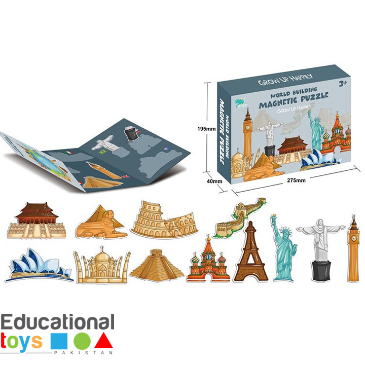 Famous Monuments In The World – Magnetic Puzzle