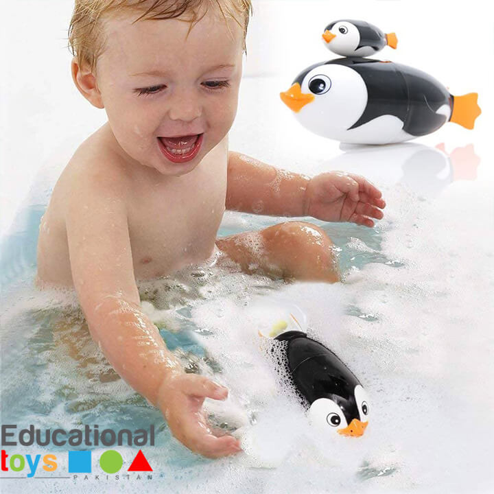 Battery Operated Swimming Penguin Bathing Toy