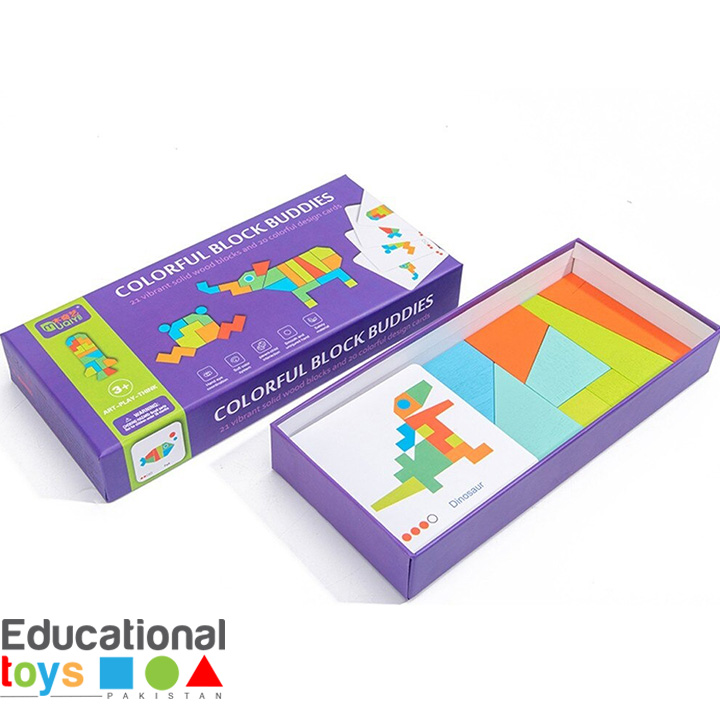 Colorful Wooden Block Buddies
