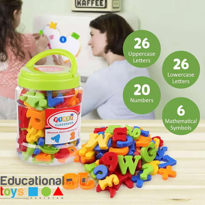 Magnetic Letters and Numbers Jar (78 pcs)