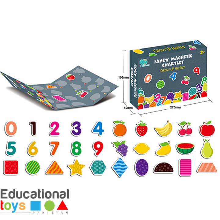 Magnetic Puzzle Chart (Number, Shapes and Fruits)