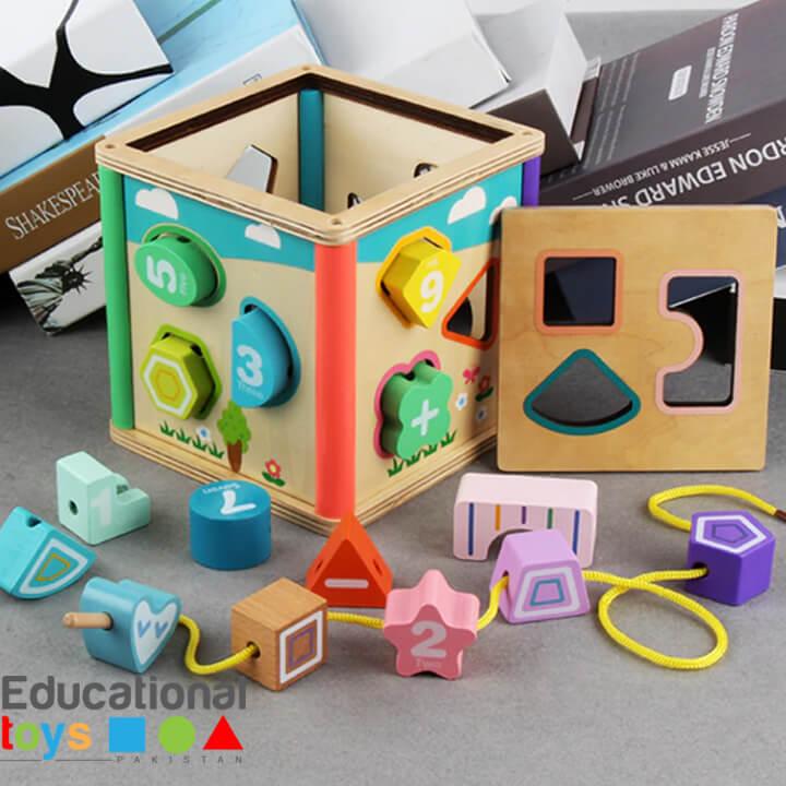 Wooden Shape Sorter Puzzle Box