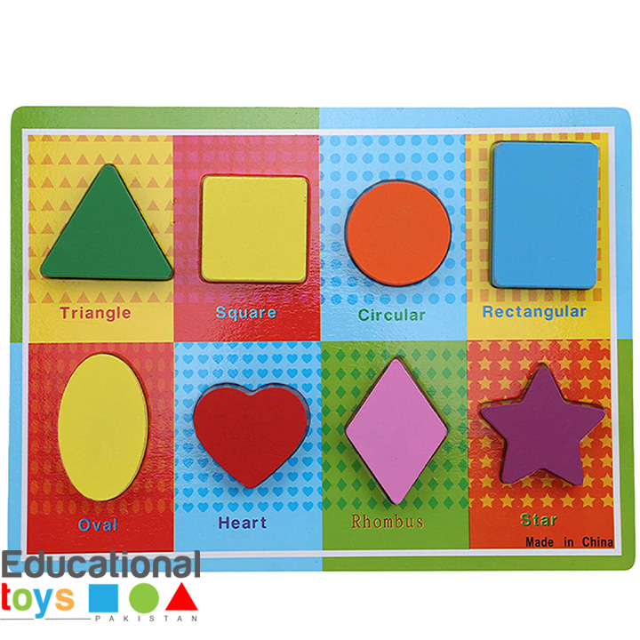 Chunky Shapes Wooden Puzzle With Shape Names