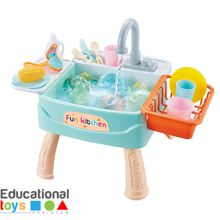Fun Kitchen Play Sink for Kids (Battery Operated)