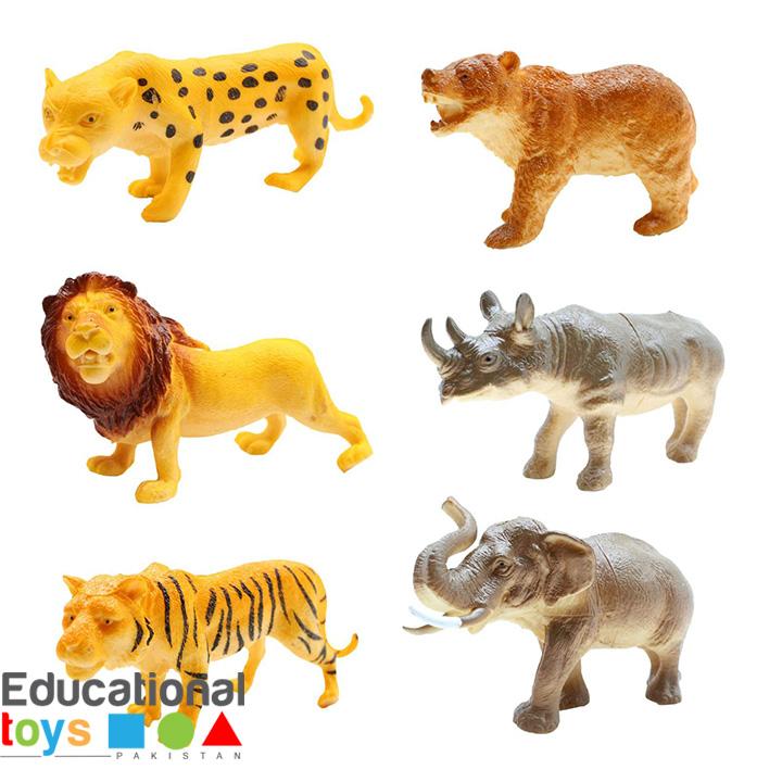 Big Jungle Animals (6 pcs Pack)