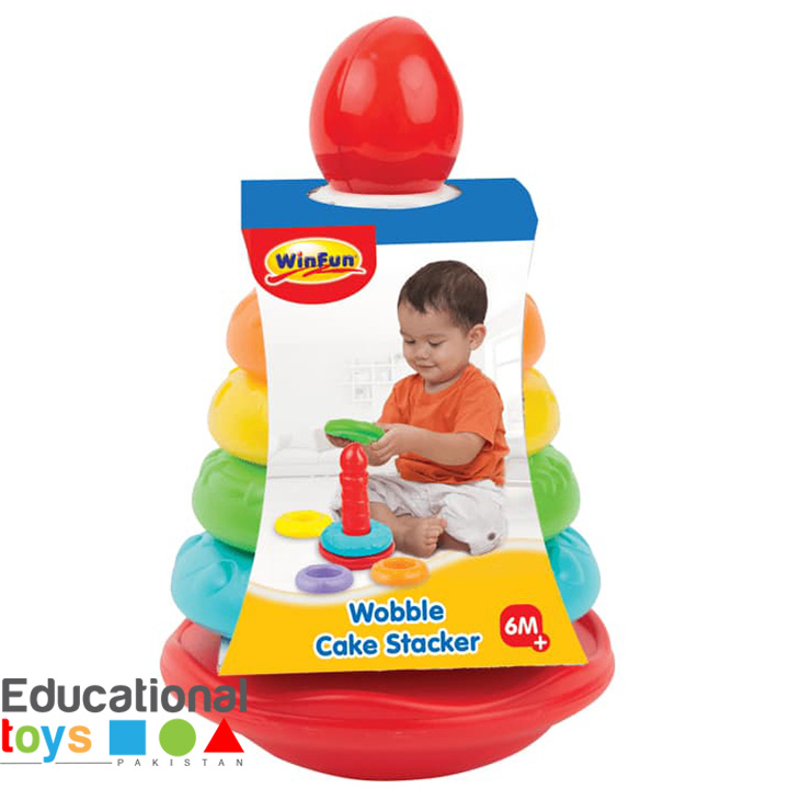 WinFun Wobble Cake Stacker – Ring Tower for Babies