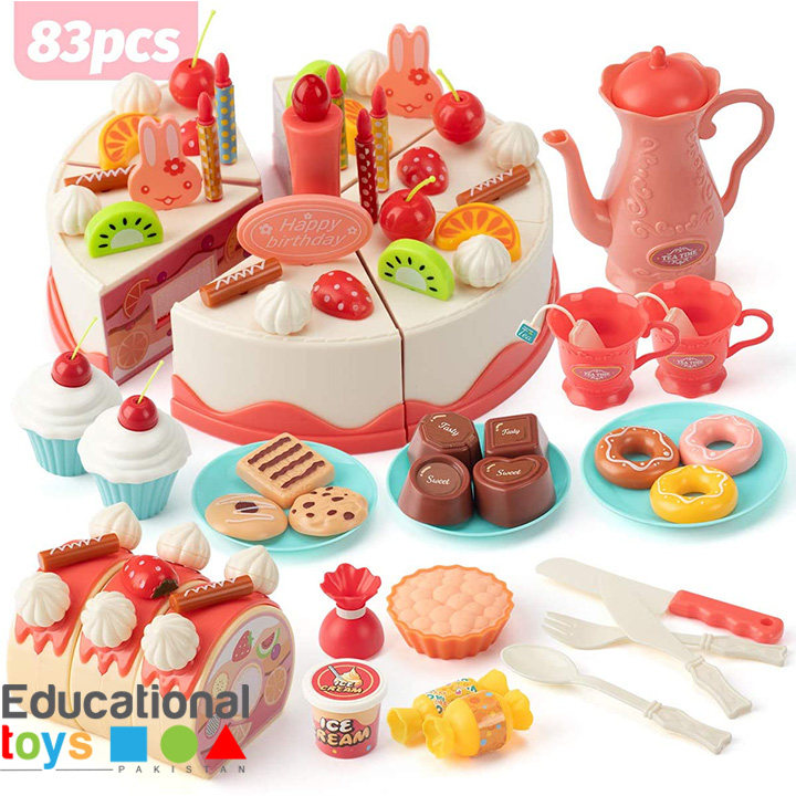 DIY Lighting Birthday Party Cake for Pretend Play – 83 pieces