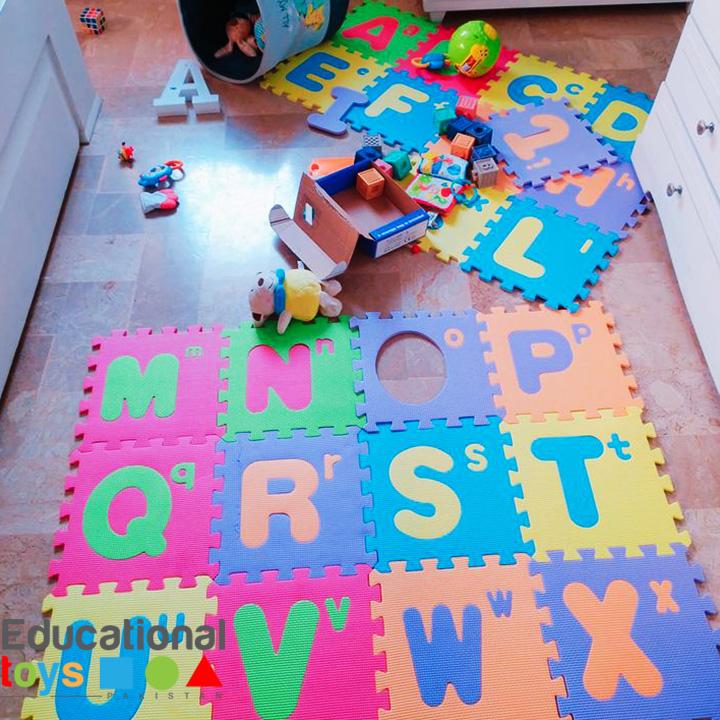 Large Alphabet ABC Floor Playmat – EVA Foam 11″ x 11″