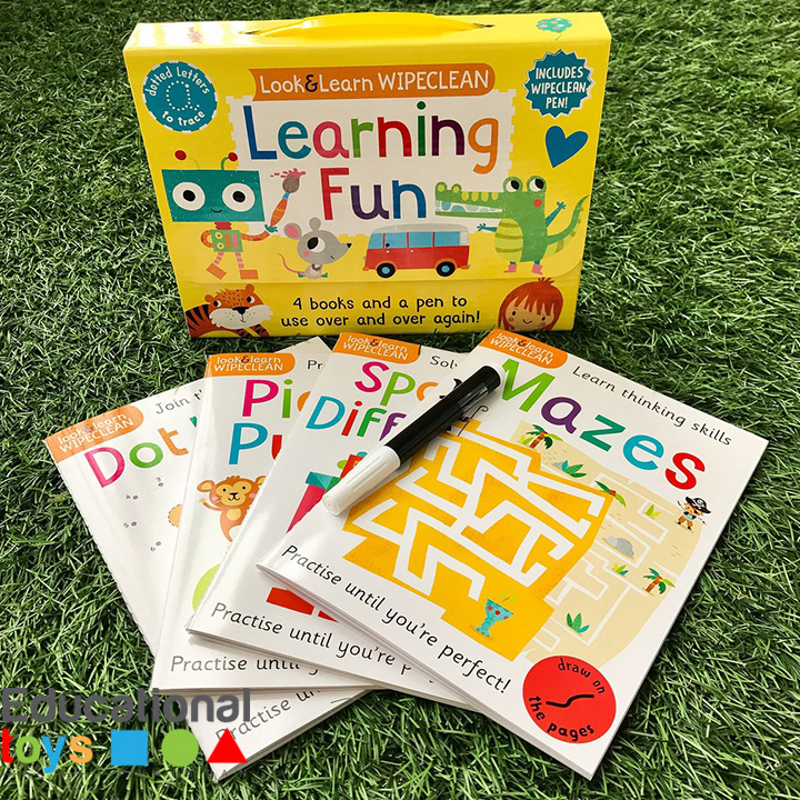 Learning Fun: Four Books and a Pen to Use Over & Over Again! (Look & Learn Wipe-Clean Books)