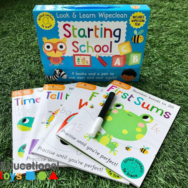 Starting School: Four Books and a Pen to Use Over & Over Again! (Look & Learn Wipe-Clean Books)