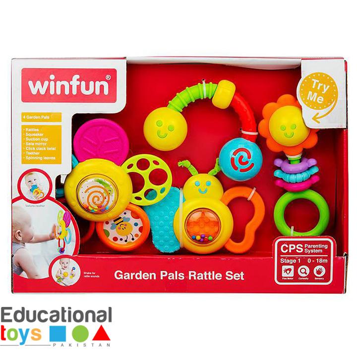 WinFun Garden Pals Rattle Set